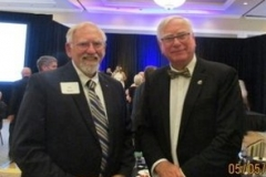 Pat Mann meets Rotary International President Ian Riseley
